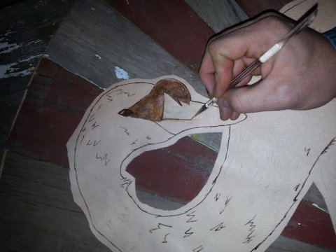 Painting the swan